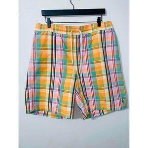 B4 Ralph Lauren polo men's plaid swimsuit trunks shorts large